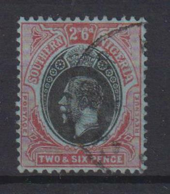 SOUTHERN NIGERIA,1912, 2/6d. Fine circular pmk. SEE ITEM SPECIFICS BELOW