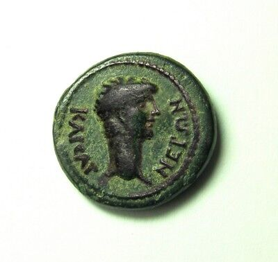 Magnificent NERO and Hero Pelops Phrygian Cap.The best of all known coins.RARE