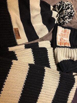 Mens Superdry Hat And Scarf