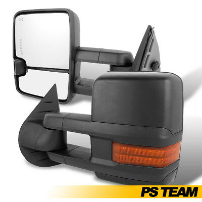 07-13 Silverado Sierra LED Signal Power Heated Extendable Towing Trailer Mirrors