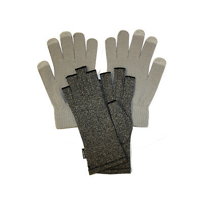 IMAK Compression Arthritis Gloves Medium, Including Grey Touchscreen Overgloves