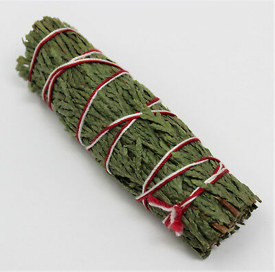 "Cedar Sage Smudge Stick / Wand 3-4"" House Cleansing Remove Negativity Ceremonial"