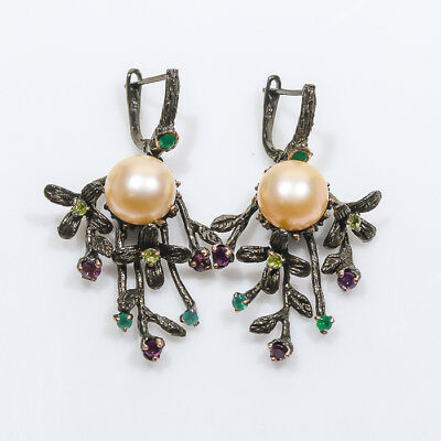 Jewelry unique SET Natural Pearl 925 Sterling Silver Earrings/E00976