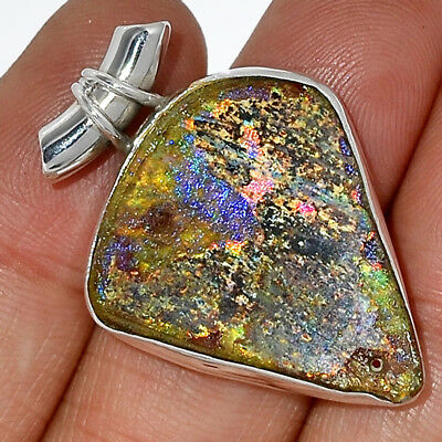 Ancient Roman Glass 925 Sterling Silver Pendant Jewelry AP29253
