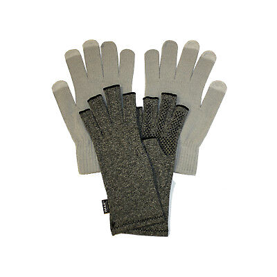 IMAK Compression Active Arthritis Gloves Medium, & Grey Touchscreen Overgloves