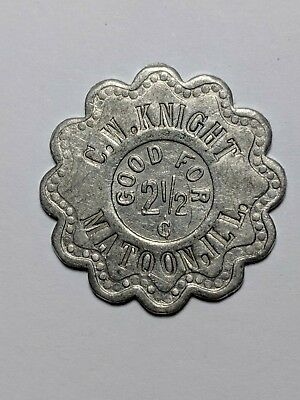 Illinois Trade Token - C.w. Knight / Matoon, Il