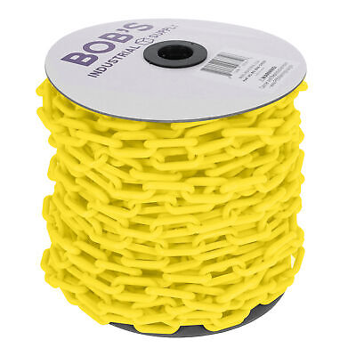 BISupply | Plastic Chain Links – 125' Feet Long Crowd Control Chain