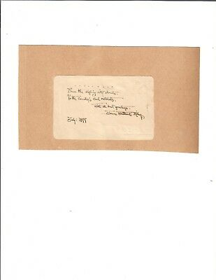 James Whitcomb Riley Handwritten Quotation Signed