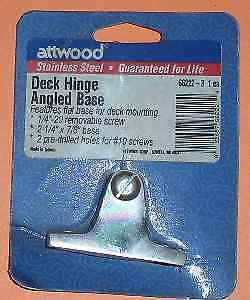Attwood 66222-3 Deck Hinge Angled Stainless Steel 4380