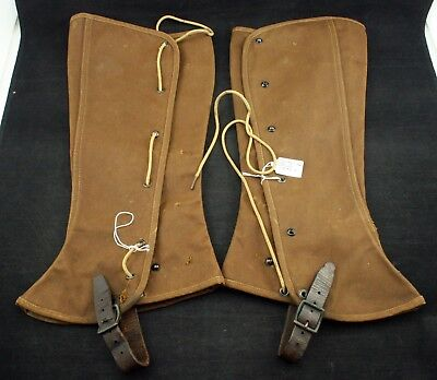 Vintage Canvas Duxbak Pair of Gaiters Spats Early 20th Century Hunting Gear Rare