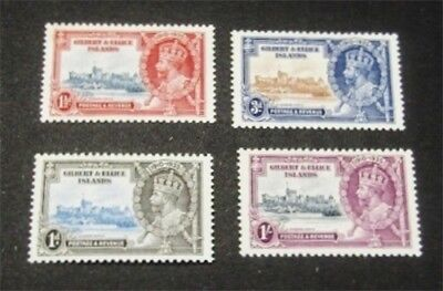 nystamps British Gilbert & Ellice Islands Stamp # 33-36 Mint OG H $40
