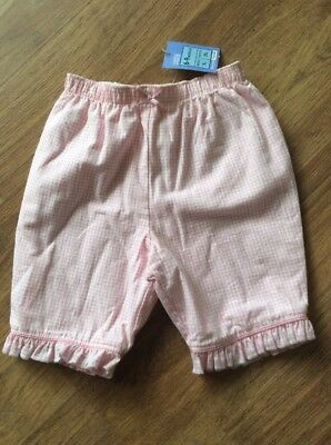 BNWT M&S Baby Girl Pink Cropped Trousers Summer/holiday 6-9 Months