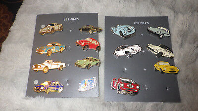 lots pin s voiture 14 voiture de collection porches,citroen,roll royce