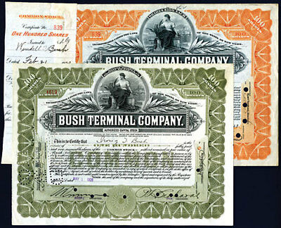 NY. Bush Terminal Co., 1923 & 1928 Issued Stock Lot of 2.