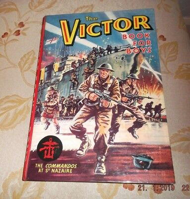 Vintage The Victor Book For Boys The Commandos At St Nazaire