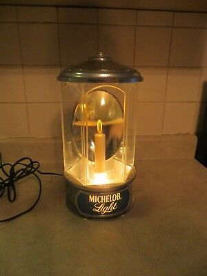 Michelob Light Lighted Wall Mount Beer Candle Reflective Advertising Sign