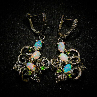 Unique jewelry SET Natural Opal 925 Sterling Silver Earrings/E01004