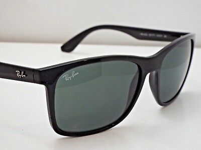 022847d8a6 Authentic Ray-Ban RB 4232 601 71 Black Green Classic Square Sunglasses  185