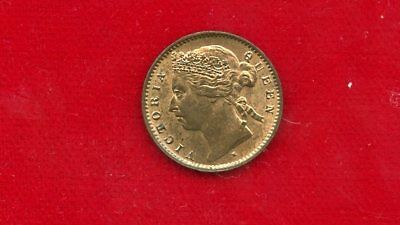 Mauritius 1 Cent Km-7 1890-H Uncirculated