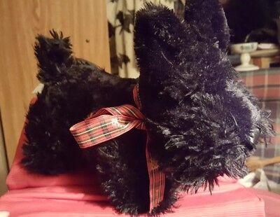 Black Plush Macalester College Scottie Dog- by Princess Soft Toys Inc-2006