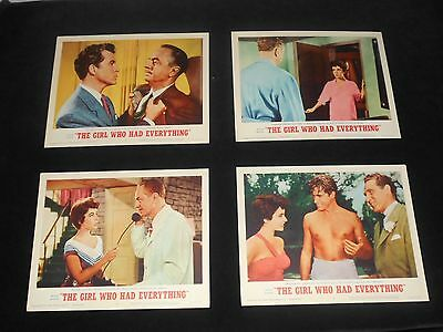 Girl Who Had Everything   8  Original Lobby Cards  R/62  Elizabeth Taylor