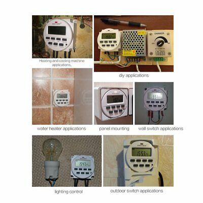 SINOTIMER 5V Weekly 7 Days Programmable Digital TimeR Switch Relay Control PA