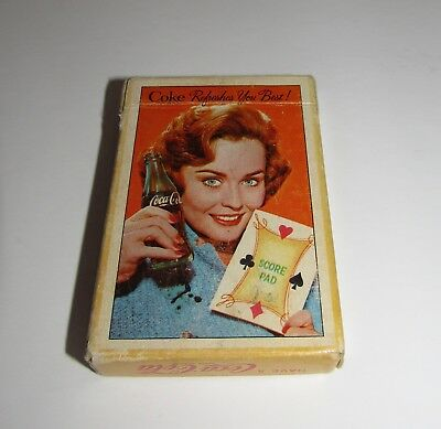 Vintage Coca-Cola Coke Score Pad Playing Cards in Original Box 52 Cards 2 Jokers