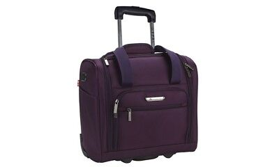 """Travelers Polo and Racquet Club 15"""" Underseat Carry-On Luggage with USB Port"""