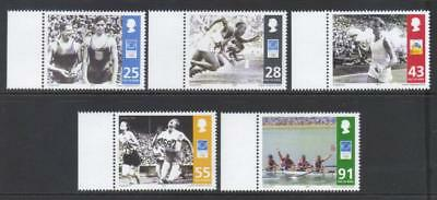 Isle Of Man 2004 Olympic Games Mnh Set Of 5