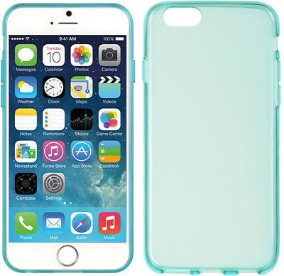 """TEAL MATTE TPU CANDY SKIN CASE SLIM THIN GRIP COVER FOR APPLE iPHONE 6 (4.7"""")"""