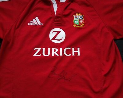 Brian O'Driscoll Signed 2005 Lions Rugby Union Shirt with Certificate - Ireland