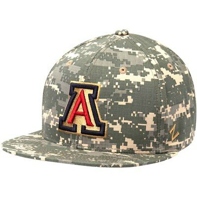aafde95d5fd99 Arizona Wildcats Zephyr Military Appreciation Trucker Adjustable Snapback  Hat -