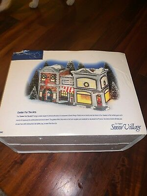 Dept 56 Snow Village - Center For The Arts 54940 Retired 2000 Mint In Box
