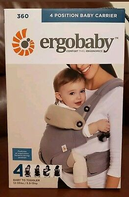 ErgoBaby 360 All In One Baby Carrier Sling - Pearl Grey Gray. New.