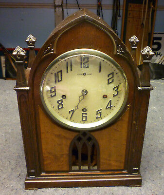 Vtg New Haven Clock Co. Mantel Shelf Abbey Cathedral Pendulum Chime Needs TLC
