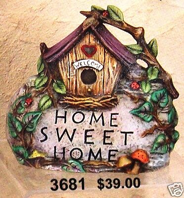Ceramic Bisque Home Sweet Home Rock Bird House CPI 3681 U-Paint Ready To Paint