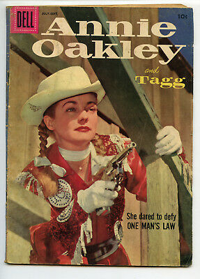 JERRY WEIST ESTATE: ANNIE OAKLEY & TAGG #12 (Dell 1957) VG condition NR