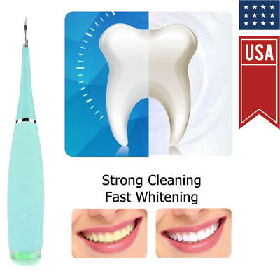 Ultrasonic Teeth Whitening Tooth Stain Remover Tartar Stains Scaling Tools Blue