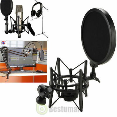 Mic Wind Double Layer Studio Microphone Screen Mask Big Integrated Pop Filter