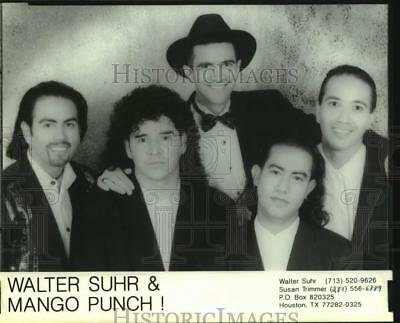 1997 Press Photo Five members of the band Walter Suhr & Mango Punch! - sap41890