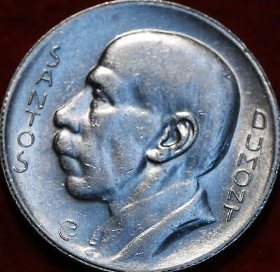 Uncirculated 1938 Brazil 5000 Reis Silver Foreign Coin