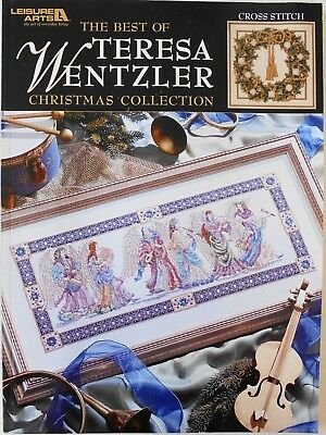 Leisure Arts The Best Of Teresa Wentzler Christmas Collection Cross Stitch Book