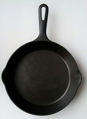 Vintage Griswold Cast Iron #6 Small Logo Grooved Handle Skillet Cleaned Seasoned