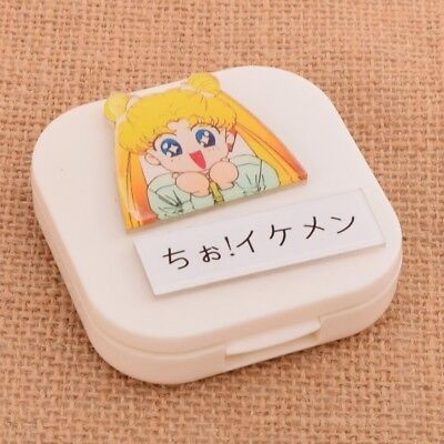 1pc Sailor Moon  White Contact Lens Box Case Japanese Anime Casual Props