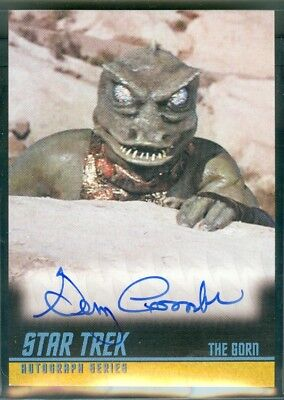 STOS  2009 ( A228 ) Gary Combs as The Gorn Autograph Card
