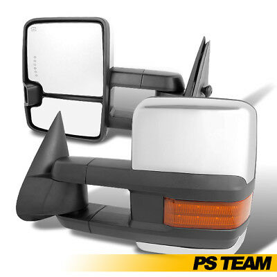 Fits 2003-2007 Silverado Sierra Power Extendable LED Signal Towing Side Mirror