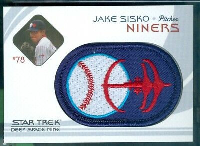 Star Trek DS9 Heroes & Villains ( BP 2 ) Niners Baseball Patch Insert Card