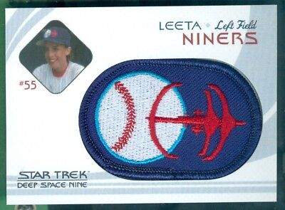 Star Trek DS9 Heroes & Villains ( BP 6 ) Niners Baseball Patch Insert Card