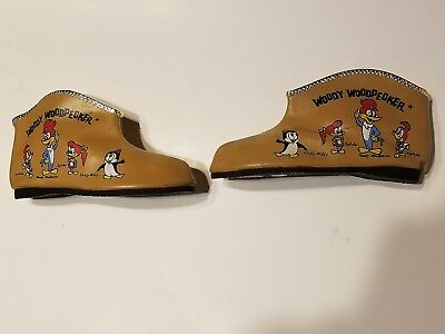 VTG 1950S WOODY WOODPECKER CHILD SLIPPER SHOES TAN BOOT-New Old Stock (NOS)