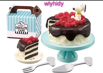 Miniatures Peanuts Snoopy's CHOCOLATE CAFE Set #6 , 1 pc only   - Re-ment